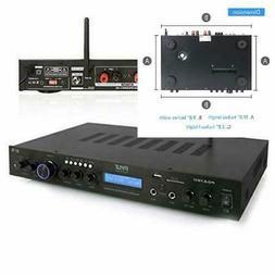 Pyle - Upgraded Premium Rack Mount Bluetooth Receiver, Home