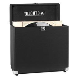 Victrola Vintage Vinyl Record Storage Carrying Case for 30+