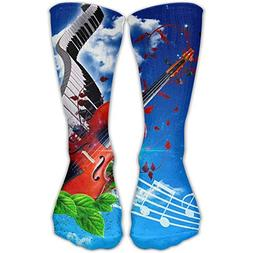 WZCY FASHION Music Is Love Guitar Piano Unisex Personalized