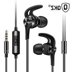 Wired Earphone In Ear, TLT Retail Zinc Alloy Earbuds Built-i