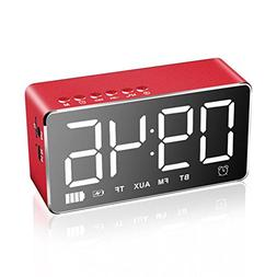 HzxlT LED Digital Alarm Clock with Bluetooth Speaker and FM