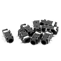 uxcell 8 Pcs Audio 3.5mm 5 Pin Stereo Jack Panel Mount SMD S