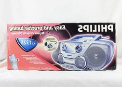 Philips AZ1325 AM/FM CD Player Boombox Portable Radio Stereo
