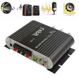 Bass 12V Mini Hi-Fi Stereo Amplifier 2.1CH Car Home Booster