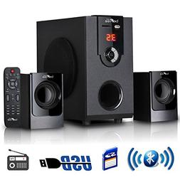 beFree Sound 2.1 Channel Surround Sound Bluetooth Speaker Sy
