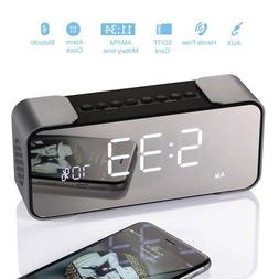 Bedside Alarm Clock with Bluetooth Speaker, Wireless Stereo