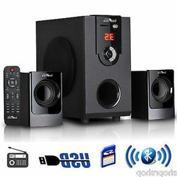 beFree Sound BFS-30 2.1 Channel Surround Sound Bluetooth Spe