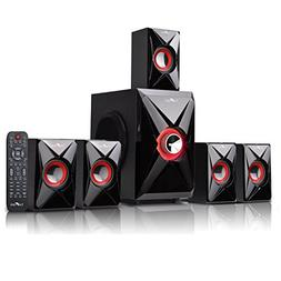 BEFREE SOUND BFS-420 Bluetooth Home Theater System, Red
