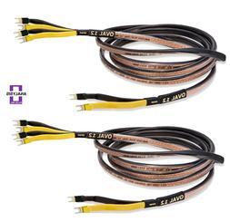 Analysis Plus Bi-Wire Black Oval 12 Bi-Wired Speaker Cable S