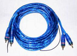 NEW 2 CHANNEL 6 FOOT BLUE RCA CABLE GOLD PLATED CAR STEREO H