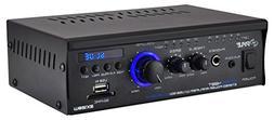 2x120W Bluetooth Audio Power Amplifier - 2 Channel Mini Ster