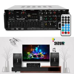 Bluetooth Home Stereo Amplifier 2 CH Powered Equalizer EQ Ka