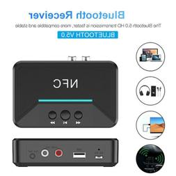 Bluetooth NFC Receiver 3.5mm Audio Adapter For Car Home Ster