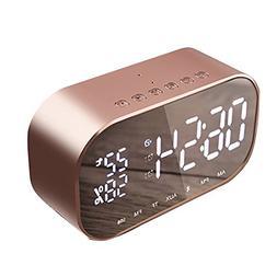 Bluetooth Speaker Wireless with Digital Alarm Clock Large LE