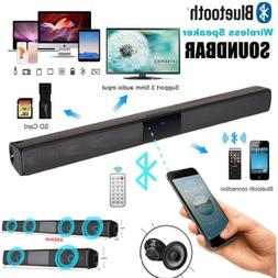 Bluetooth Wireless TV Home Soundbar Bass Speaker 3D Stereo B