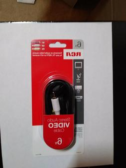 BRAND NEW AUTIO/VIDEO S RCA CABLE 6' TV HDTV A/V RECEIVER HO