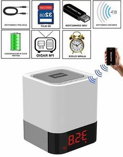 Boytone BT-83CR Portable FM Radio Alarm Clock Wireless Bluet