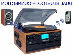 Boytone BT-22W, Bluetooth Record Player Turntable, AM/FM Rad