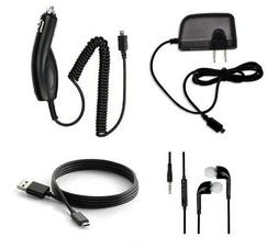 CAR + HOME CHARGER + USB CABLE ACCESSORY BUNDLE KIT FOR HP S