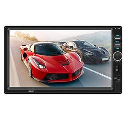 """Car Bluetooth Stereo Radio with 7"""" Double DIN Touchscreen, C"""