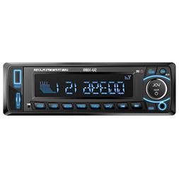 Car Stereo with Bluetooth Single Din Car Radio MP3 Player US