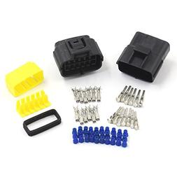 uxcell Car Waterproof 12 Terminal Electrical Wire Connector