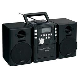 Jensen CD-725 Portable Boombox CD Cassette Player & FM Stere