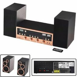 CD Bluetooth Stereo System Home Speaker CD Player FM Radio A
