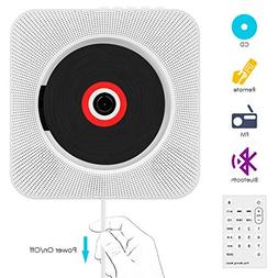 CD Player, VIFLYKOO Wall Mountable CD Player Bluetooth Hi-Fi