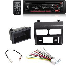 CD Single DIN Car Stereo Receiver Radio Dash Install Mountin