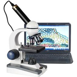 AmScope M150C-E1 40X-1000X LED Coarse & Fine Focusing Scienc