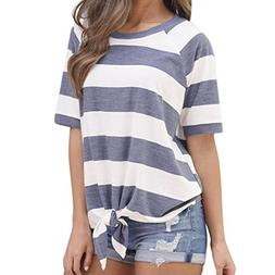 Hemlock Colorful Tee, Women Casual Loose Tops T-Shirt Blouse