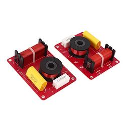 uxcell 2 Pcs 130W 2-Way Speaker System Audio Crossover Filte