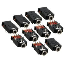 uxcell 10 Pcs DIP PCB Mount 9 Pins Female 3.5mm Stereo Audio