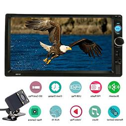 Joycar 7inch Double Din Bluetooth LCD Receiver, Touch Screen