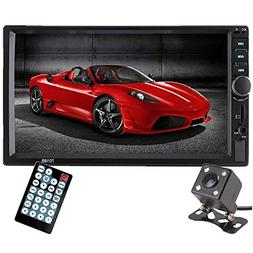 Double Din Car Stereo, Ewalite 7 inch Touch Screen In Dash C