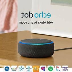 amazon echo dot 3rd generation smart speaker with alexa - ch