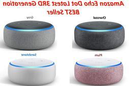 Amazon Echo Dot  3RD Generation With w/ Alexa Voice Media De