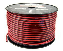 Audiopipe 500' Feet 12 Gauge Red Black Speaker Wire Home Car