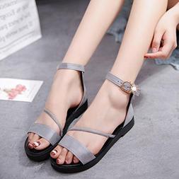 Hemlock Flat Sandals Women Low Heels Platform Shoes Beach Ro