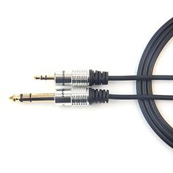 BOTEEN Gold plated-3.5 mm  mini jack stereo to 6.35 mm(1/4