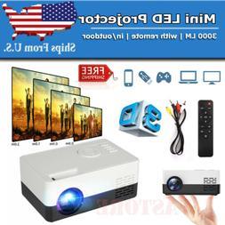 HD 1080P Mini Portable Projector Movie Video Home Theater HD