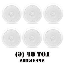 """8"""" Ceiling Wall Mount Speakers - 2-Way Weatherproof Full R"""