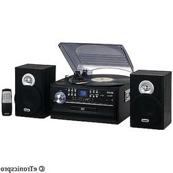 JENSEN 3-SPEED HOME STEREO CD CASSETTE RECORD PLAYER TURNTAB