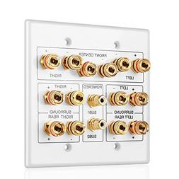 TNP Home Theater Speaker Wall Plate Outlet - Speaker Sound A