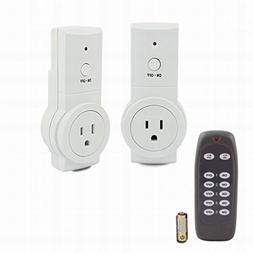 uxcell Wireless US Plugs Remote Control Electrical Outlet Sw