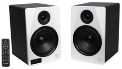 "Rockville HTS8W Pair 8"" 1000W Powered Home Theater Speakers"