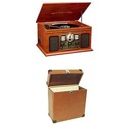 Bundle Includes 2 Items - Victrola Nostalgic Classic Wood 6-