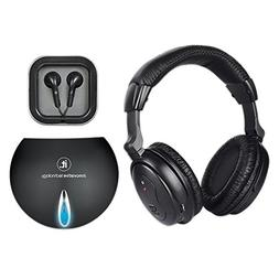 Innovative Technology Wireless Headphones with Wired Transmi