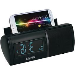 JENSEN JBD-100 Universal Bluetooth Dual Alarm Clock Radio